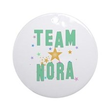 Cute Nora Round Ornament