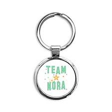 Cute Nora Round Keychain