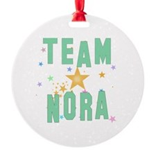 Cute Nora Round Ornament