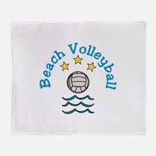 Beach Volleyball Throw Blanket