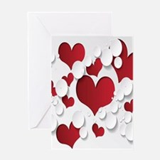 Red Hearts Greeting Cards