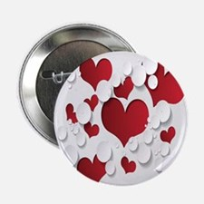 "Red Hearts 2.25"" Button (100 pack)"