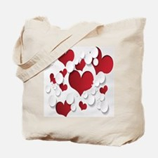 Red Hearts Tote Bag