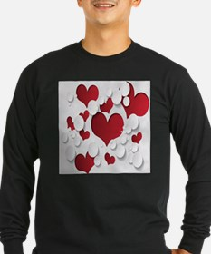 Red Hearts Long Sleeve T-Shirt