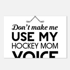 Hockey mom voice Postcards (Package of 8)
