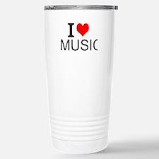I Love Music Travel Mug