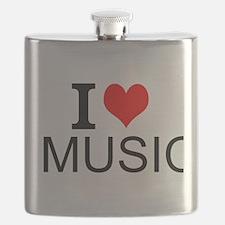 I Love Music Flask