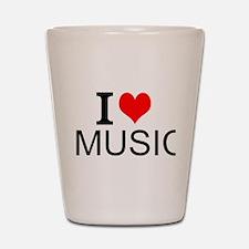 I Love Music Shot Glass