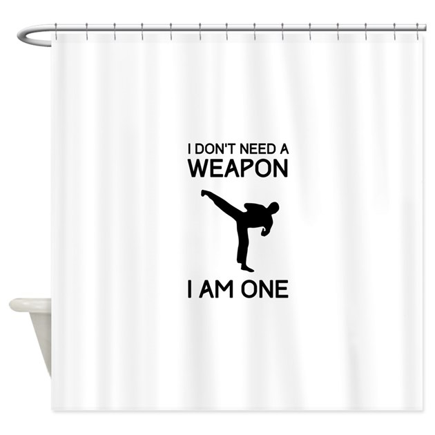 don 39 t need weapon i am one shower curtain by sportysport