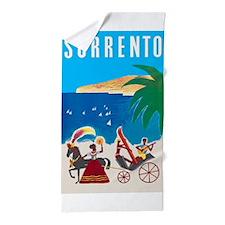 Sorrento, Italy, Vintage Travel Poster Beach Towel