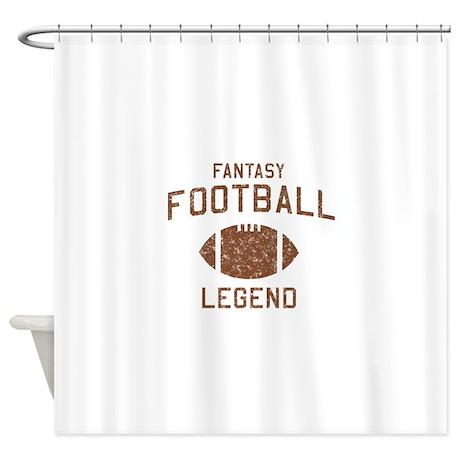 Fantasy football legend shower curtain by sportysport for Fantasy shower curtains