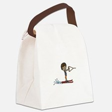 Water Ski Boy Canvas Lunch Bag