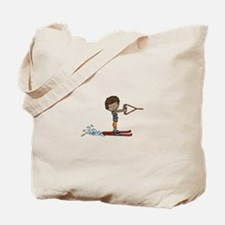 Water Ski Boy Tote Bag