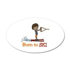 Born to Ski Wall Decal