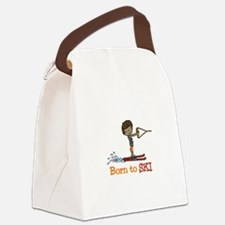 Born to Ski Canvas Lunch Bag