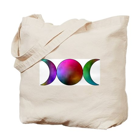 Watercolor Triple Moon Tote Bag