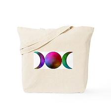Watercolor Triple Moon Tote Bag