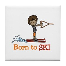 Born to Ski Tile Coaster