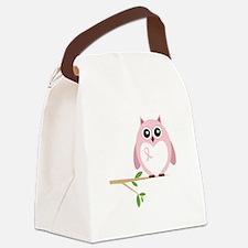 Awareness Owl Canvas Lunch Bag