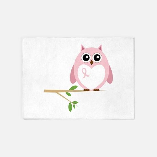 Awareness Owl 5'x7'Area Rug