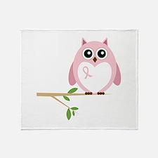 Awareness Owl Throw Blanket