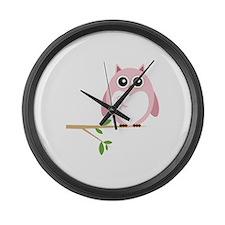 Awareness Owl Large Wall Clock