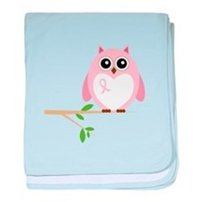 Awareness Owl baby blanket