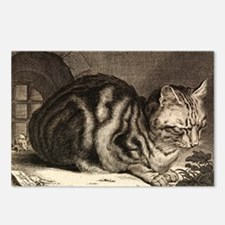 Cat, Mouse Vintage Art Postcards (Package of 8)