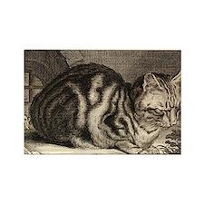 Cat, Mouse Vintage Art Magnets