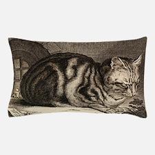 Cat, Mouse Vintage Art Pillow Case