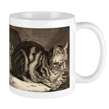 Cat, Mouse Vintage Art Mugs