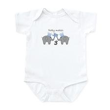 Baby Makes 3 Onesie Infant Body Suit