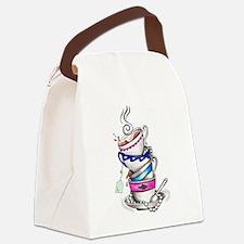 Tea for Four Canvas Lunch Bag