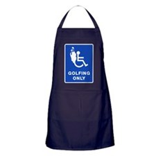 Golfing Only Apron (dark)
