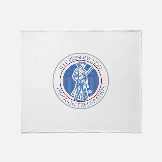 Prepper Logo Throw Blanket