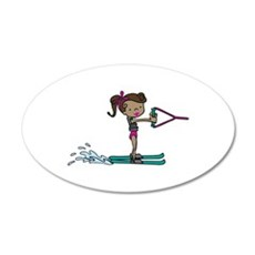Water Ski Girl Wall Decal