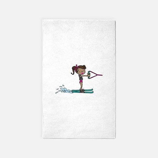 Water Ski Girl 3'x5' Area Rug