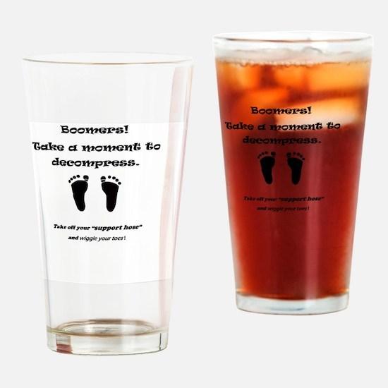 Boomers decompress Drinking Glass