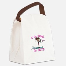 Happy Ski Canvas Lunch Bag