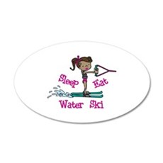 Sleep Eat Water Ski Wall Decal
