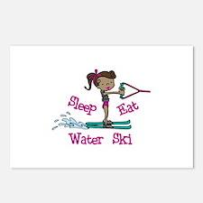 Sleep Eat Water Ski Postcards (Package of 8)
