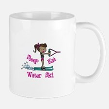 Sleep Eat Water Ski Mugs
