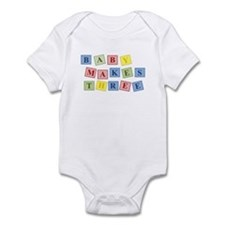 Baby Makes Three Blocks Infant Body Suit