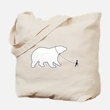 Penguin and Polar Bear Tote Bag