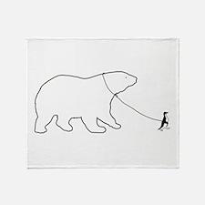 Penguin and Polar Bear Throw Blanket