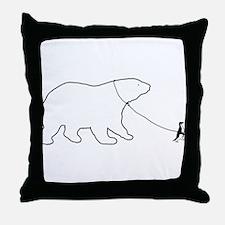 Penguin and Polar Bear Throw Pillow