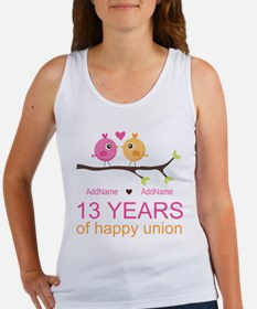 13th Anniversary Personalized Women's Tank Top