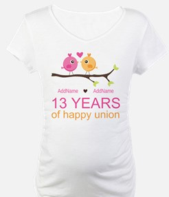 13th Anniversary Personalized Shirt