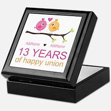 13th Anniversary Personalized Keepsake Box