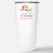 13th Anniversary Person Travel Mug